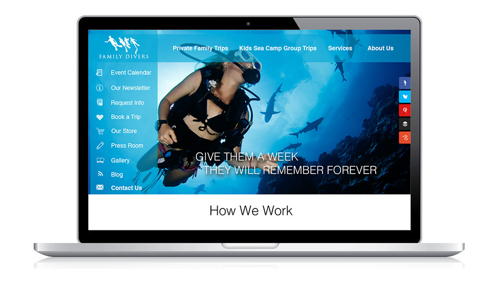 Website Design and Maintenance for Family Divers